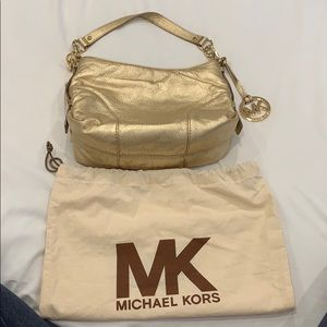 Michael Kors Gold Small Bag